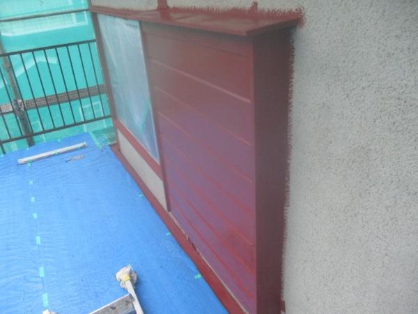 木部の錆止め塗装終了です