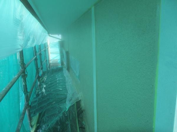 2階の外壁中塗りが終了しました