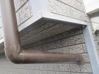出窓の配管です