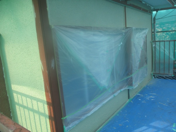 2階外壁の上塗り終了です