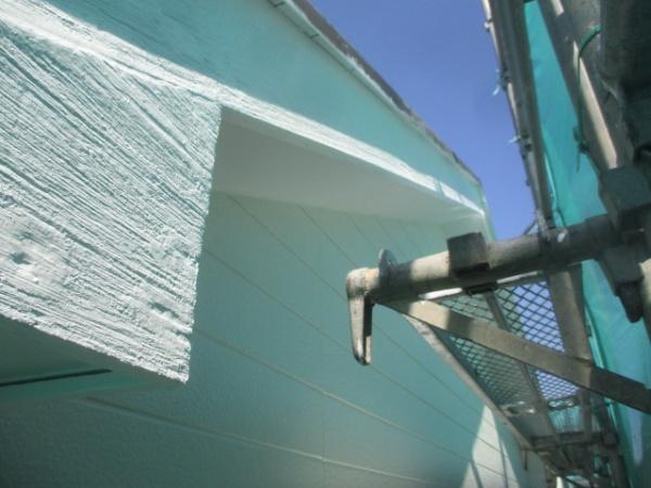 破風板の上塗り終了です