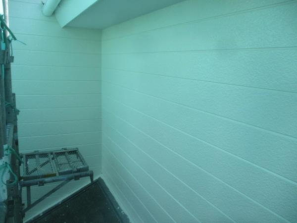 外壁上塗り終了です