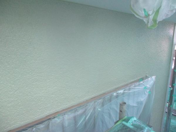 1階外壁の上塗り終了です