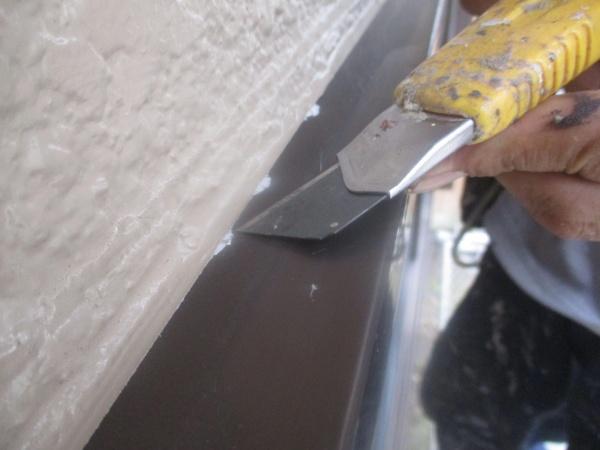 外壁塗装の掃除中です