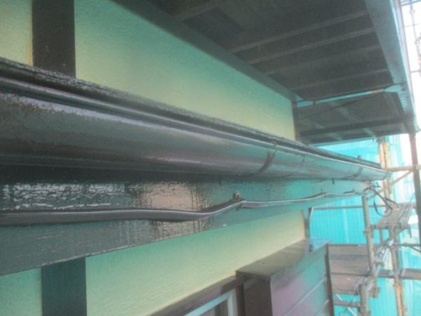 1階破風軒樋の完工です