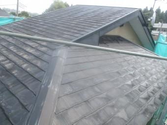 コロニアル屋根の洗浄が終了しました