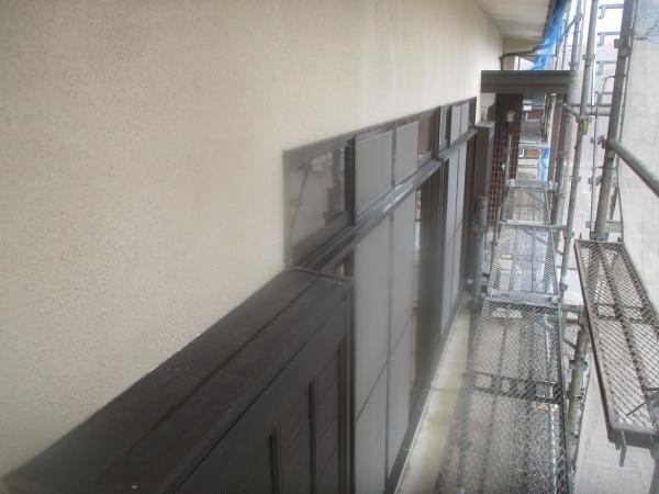 1階外壁の洗浄終了です