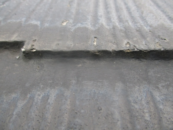 施工前の薄型スレート屋根の状態です