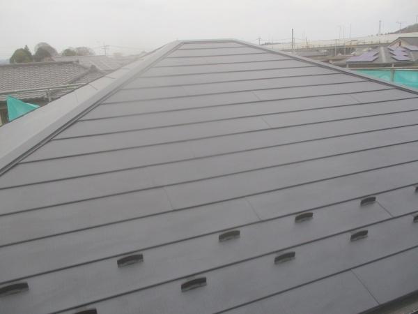 大屋根のカバー工事が終了しました