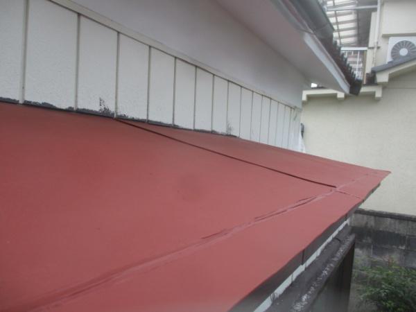 出窓天板の下塗り終了です