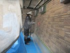 1階外壁ローラー塗装の2回目です