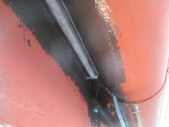 破風板と軒樋のだめ込み中です