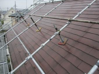 洗浄前の屋根の状態です