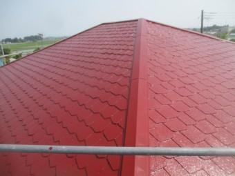 大屋根塗装完了です