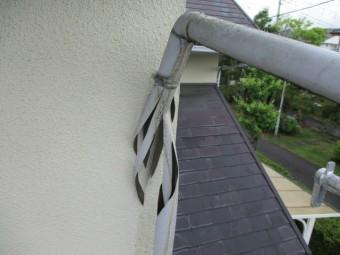 縦樋の破損箇所です