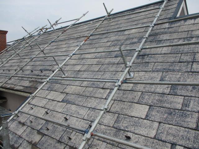 大屋根の洗浄終了です。