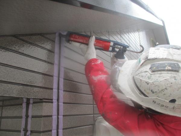 宇都宮市でオートンイクシードを使い外壁目地の打ち替えをしました