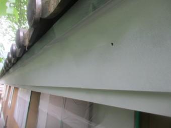 破風板金のさび止め塗装が終了しました