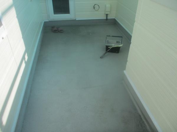 施工前のべらんだ床の状態です