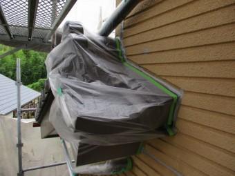 下屋根の養生をしました