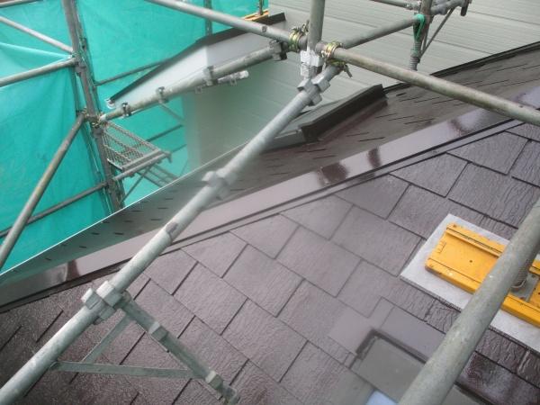 下屋根塗装の完工です