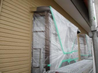 1階の西面の上塗りが終了しました