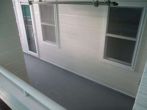 ベランダ防水塗装の完工です