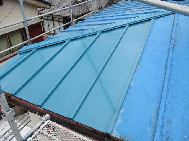 施工完了の屋根の状態です