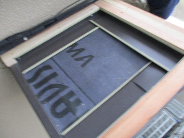 棟の貫き板を取りつけました
