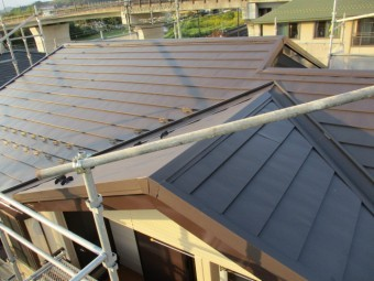 2階大屋根の完工です