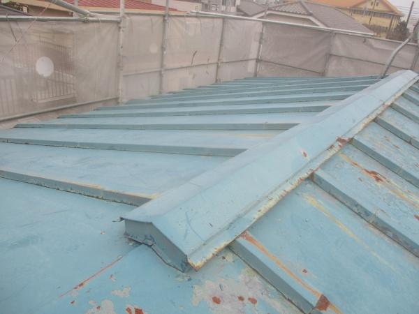 高圧洗浄後の屋根の状態です
