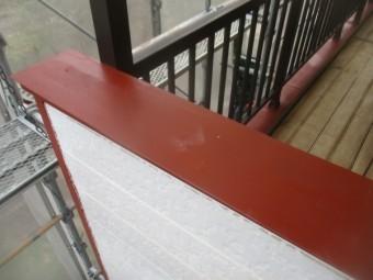 笠木のさび止め塗装が終了しました