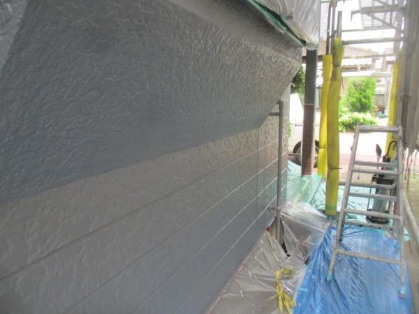 出窓下の上塗りが終了しました
