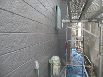 外壁塗装の上塗りが終了しました