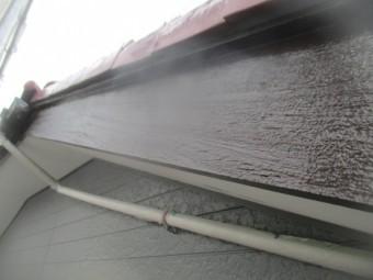 破風板の中塗り終了です
