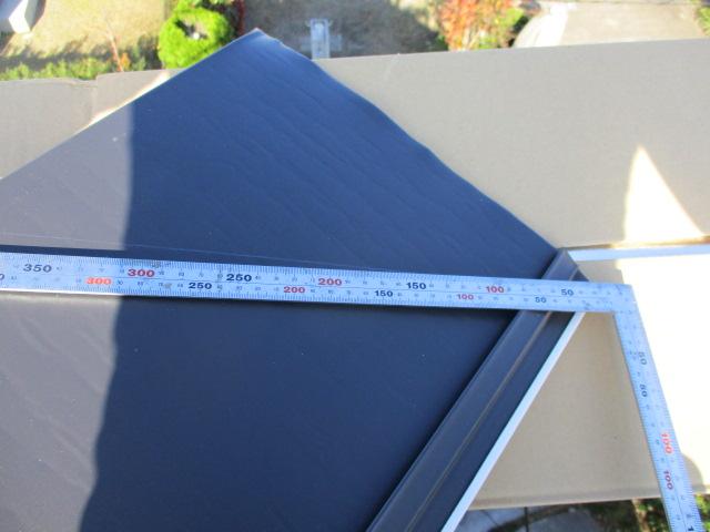 斜めの角度を測り墨を打ちます