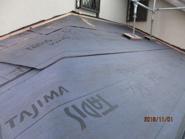本日の施工後の下屋根の状態です