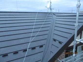 完工後の大屋根の状態です