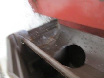 排水穴を開けました
