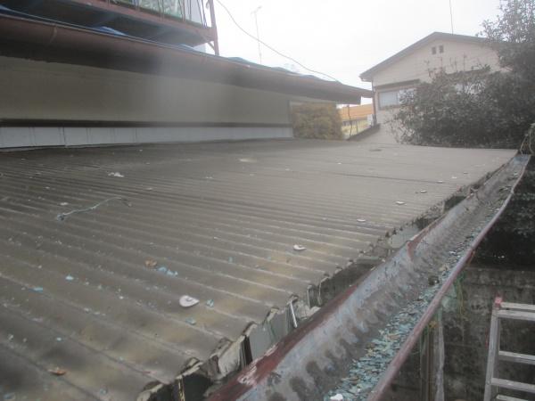 施工前の波板の状態です