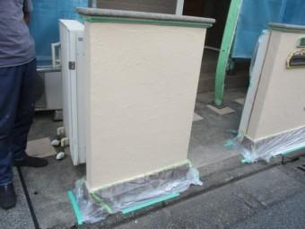 門塀の塗装が終了しました