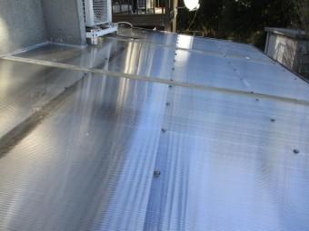 テラス屋根の取り付けが終了しました