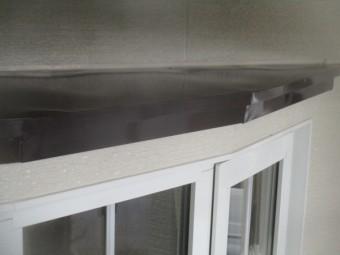 出窓の屋根の仕上がりです