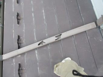 這い樋の破損箇所です