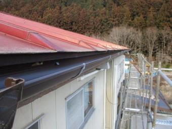 2階屋根の施工後の状態です