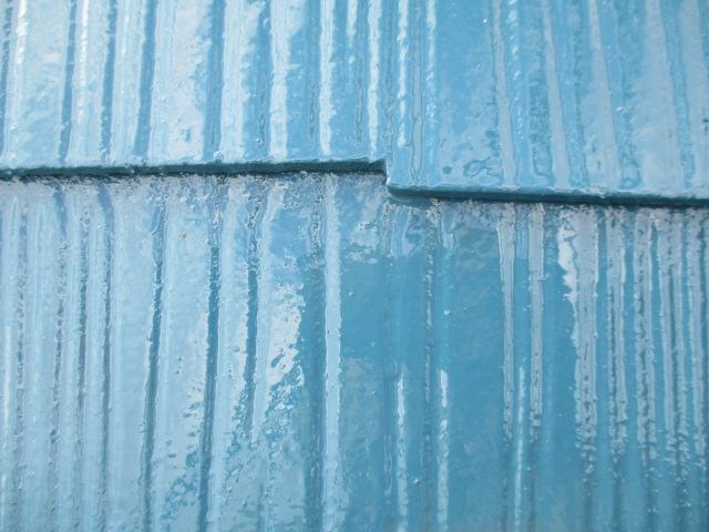 コロニアル屋根材のかさね部分です