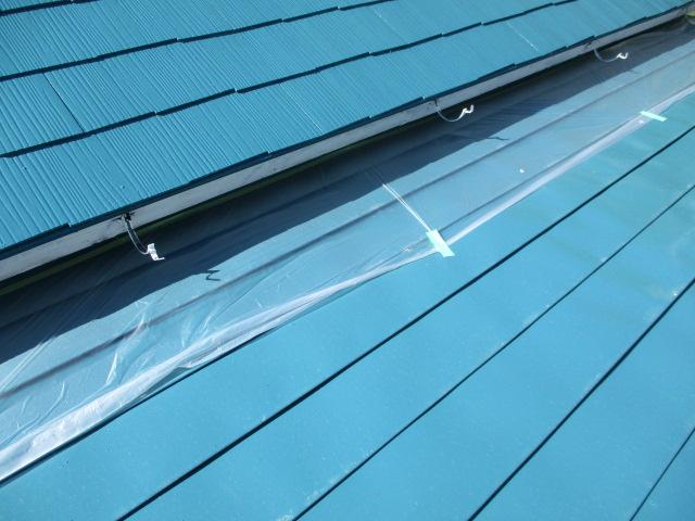 破風板塗装用の養生をしました