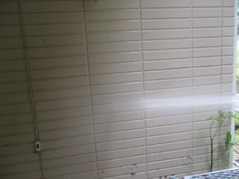 外壁の高圧洗浄中です