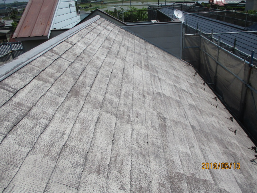 宇都宮市K様、屋根高圧洗浄後
