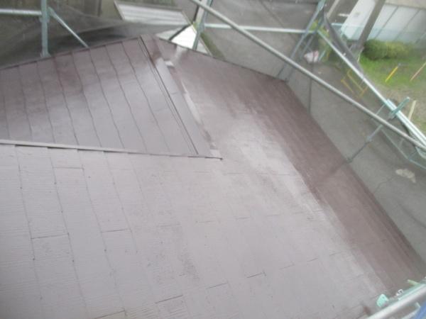 大屋根の中塗りが終了しました